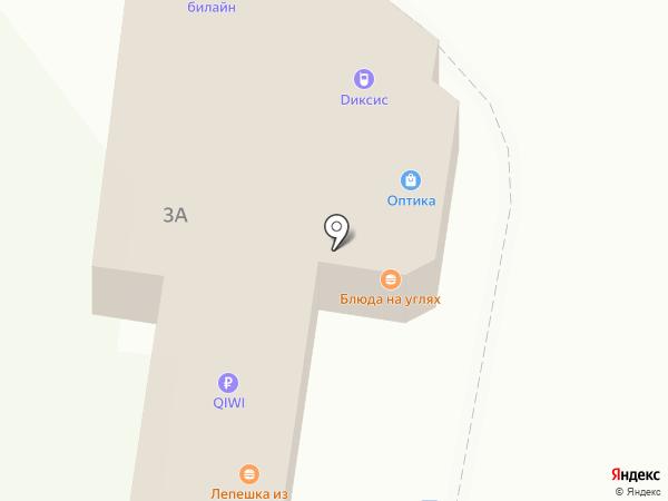 Диксис на карте Белокурихи