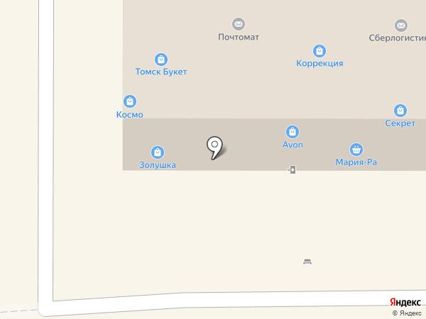 Оптика на карте Томска
