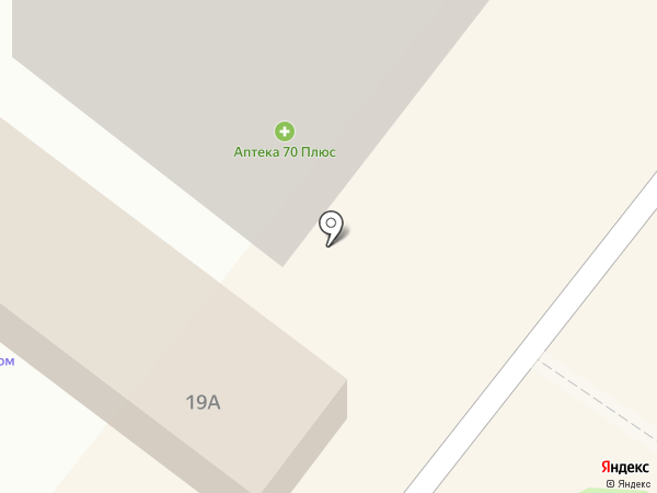 Магазин мясной продукции на карте Томска