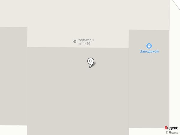 Заводской на карте Томска
