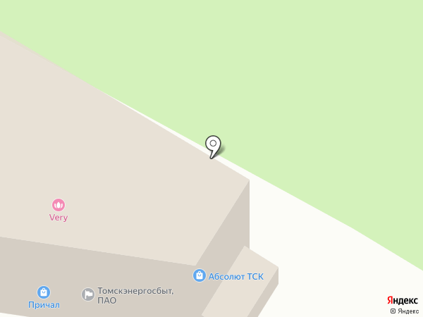 Магазин свежего мяса на карте Томска