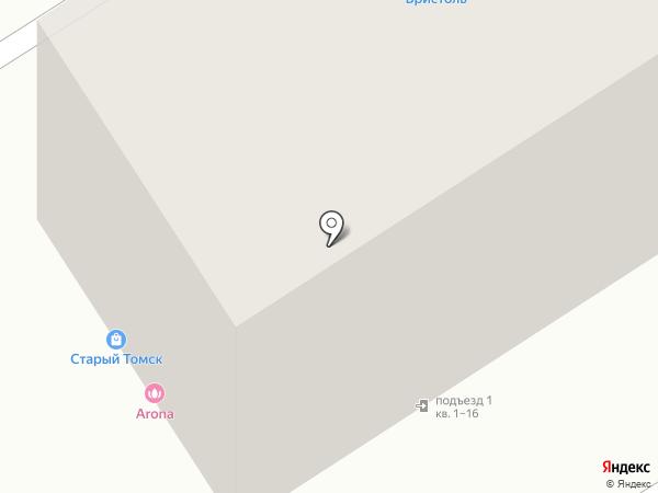Магазин по продаже хлебобулочных изделий на карте Томска