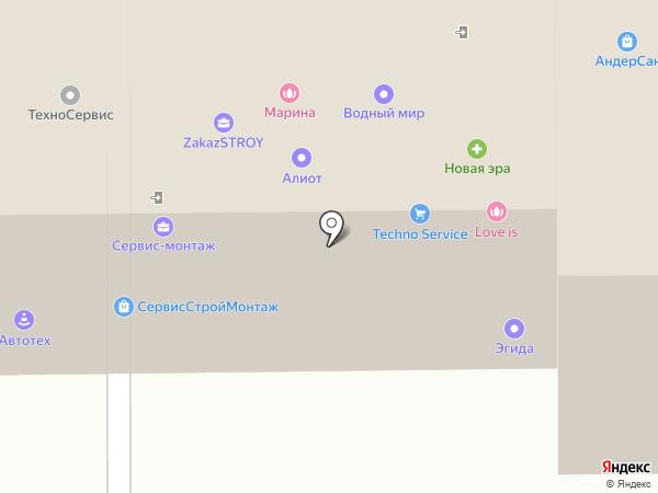 Абсолют на карте Томска