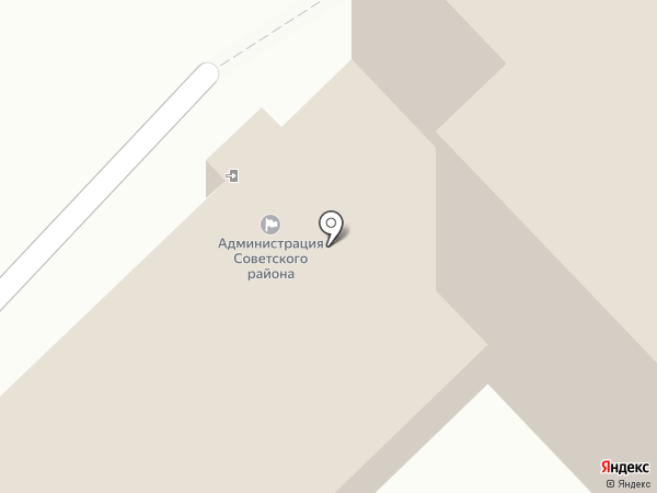 Администрация Советского района на карте Томска
