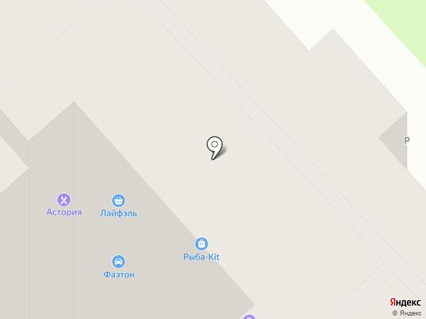 Лайфэль на карте Томска