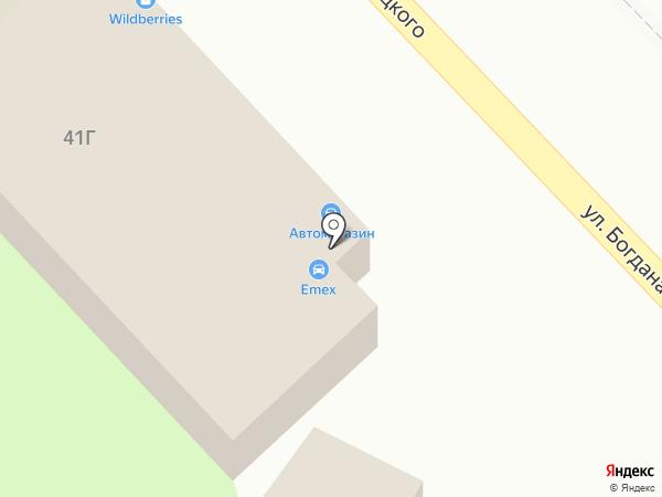 Фабрика дверей на карте Томска