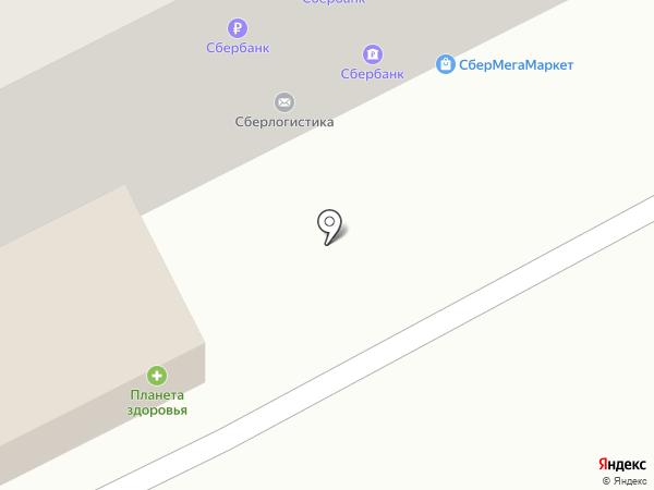 Пенный на карте Томска