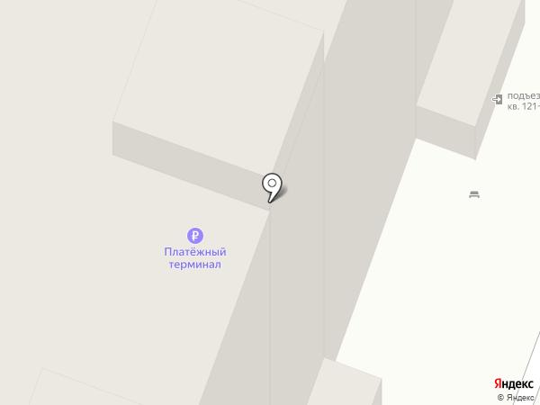 Причал на карте Томска