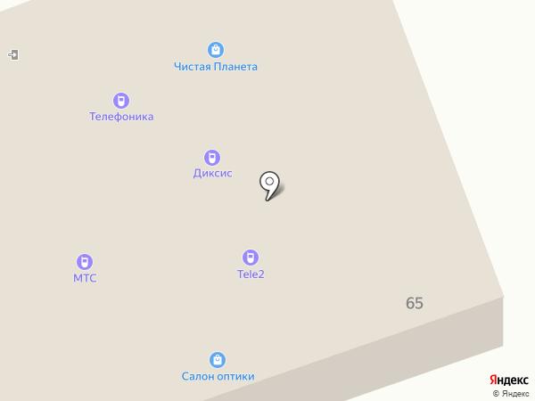 Салон оптики на карте Смоленского