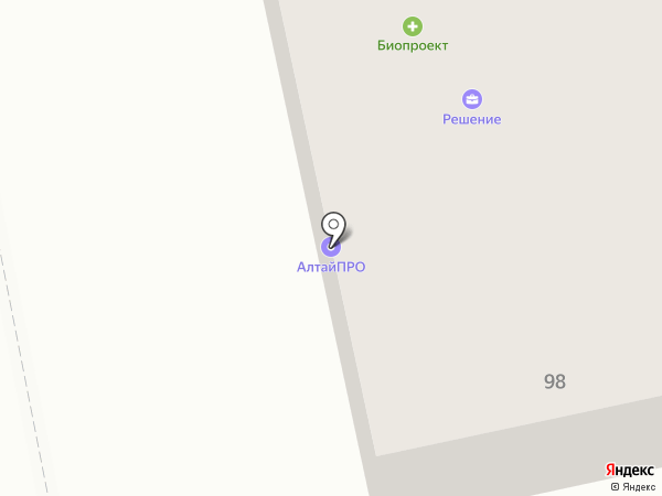 Фетис на карте Бийска