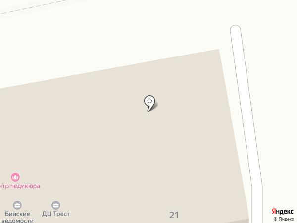 Верена на карте Бийска