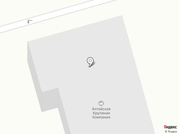 Алтайская крупяная компания на карте Бийска