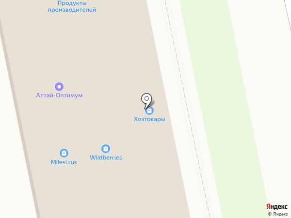 Магазин бытовой химии на карте Бийска