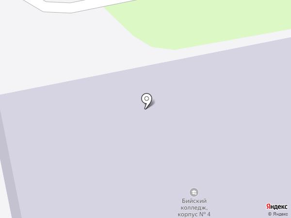 Бийский государственный колледж на карте Бийска