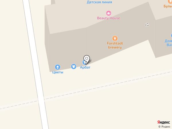 Арбат на карте Бийска