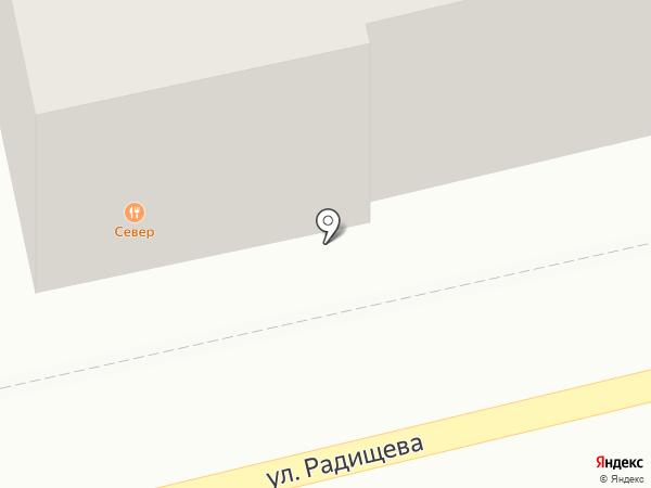 Север на карте Бийска