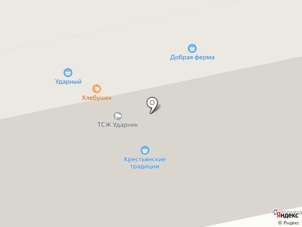 Ударный на карте Бийска