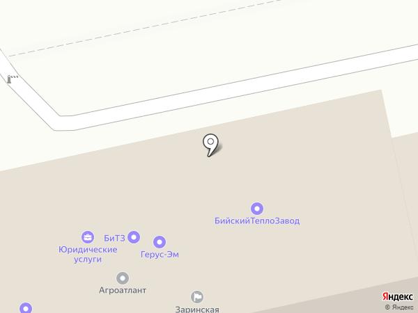 Республика Гайдар на карте Бийска