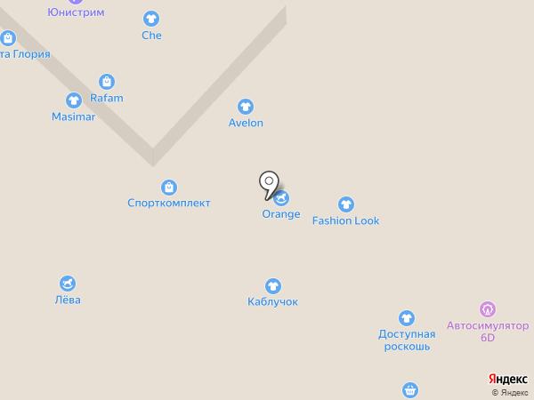 Территория творчества друзей Песчангриков на карте Бийска