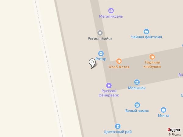 Белый замок на карте Бийска