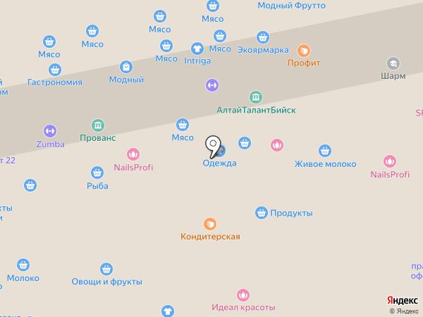 Магазин кондитерских изделий на карте Бийска