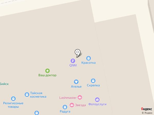 Матрица на карте Бийска
