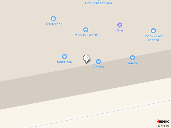 Московская Ярмарка на карте Бийска