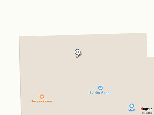 Зелёный клин на карте Бийска