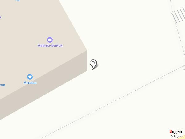 Декор на карте Бийска