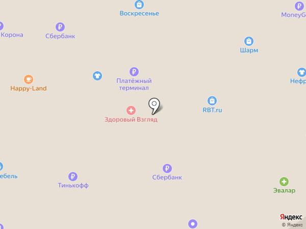 Джинс блюз на карте Бийска