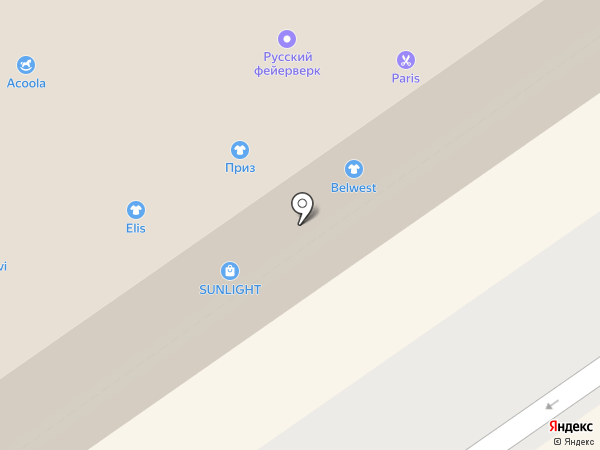Живая радуга на карте Бийска