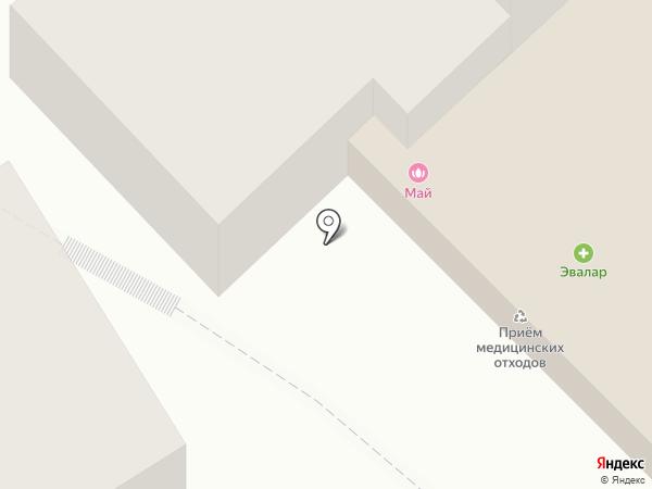 Бийский трикотаж на карте Бийска