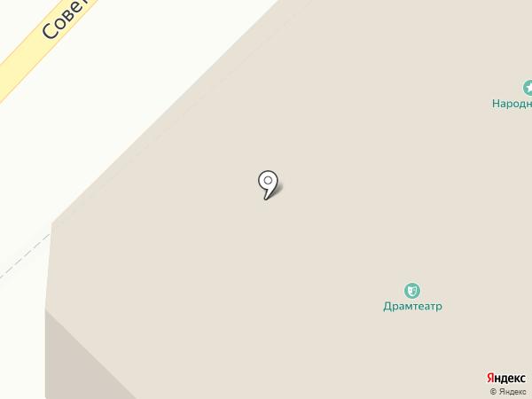 Бийский городской драматический театр на карте Бийска