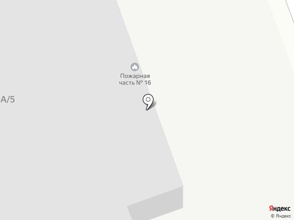 Пожарная часть №16 на карте Бийска