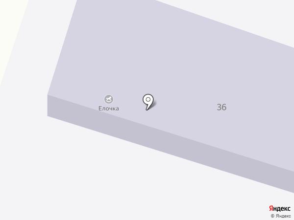 Елочка на карте Шебалино