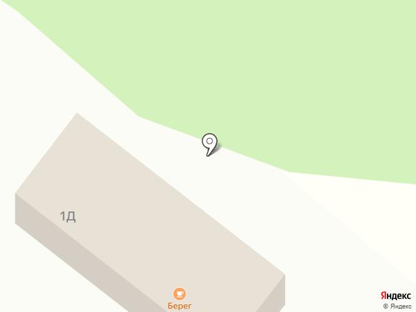 Берег на карте Катуни