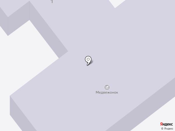 Медвежонок на карте Маймы