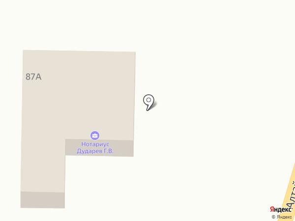 Нотариус Дударев Г.В. на карте Маймы