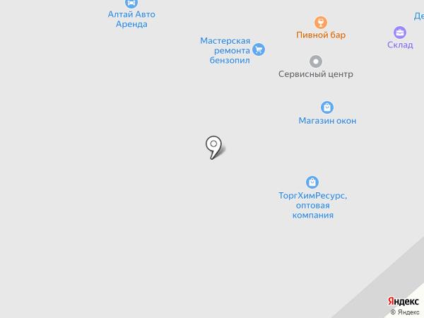 Новокон на карте Горно-Алтайска