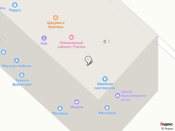 Мотылёк на карте Горно-Алтайска