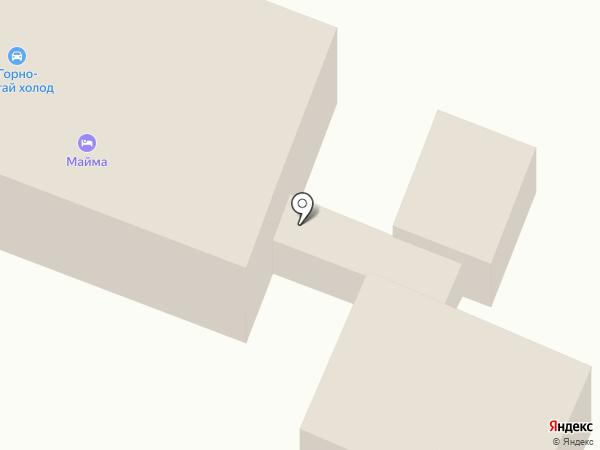 Гостиница на карте Маймы