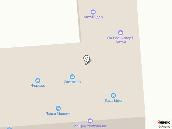 Светофор на карте Горно-Алтайска