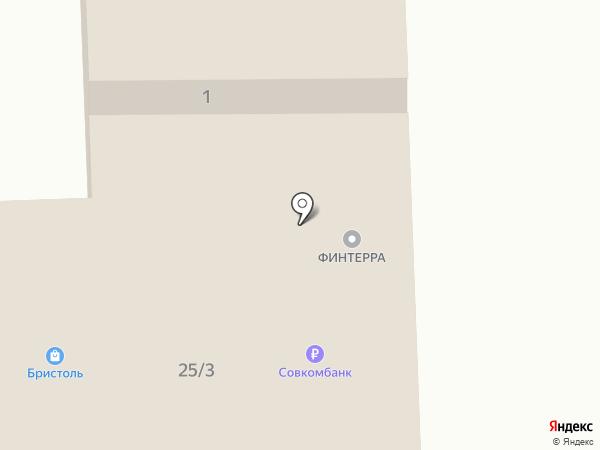 Финтерра на карте Гурьевска