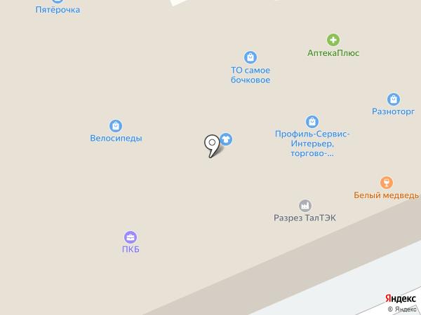 Сковородовна на карте Горно-Алтайска