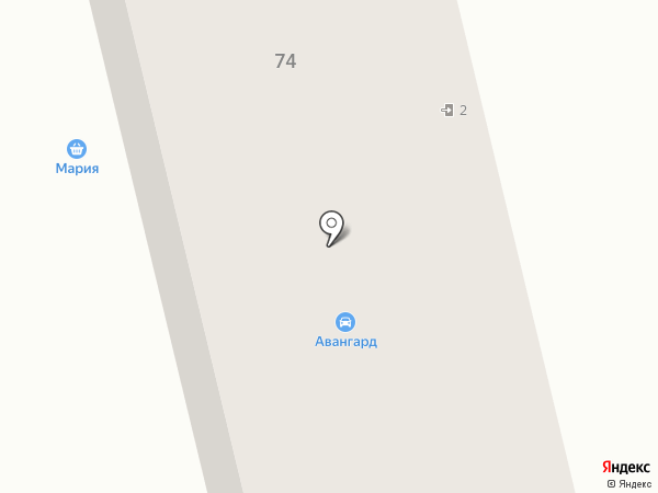 Авангард на карте Гурьевска