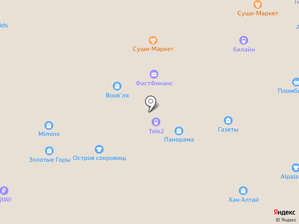 Ленжери на карте Горно-Алтайска