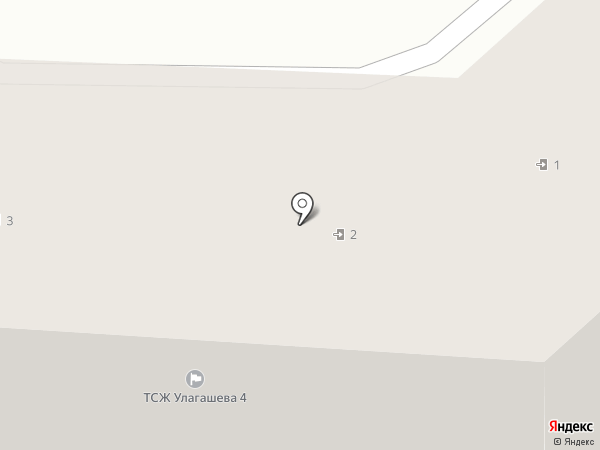 Улагашева 4, ТСЖ на карте Горно-Алтайска
