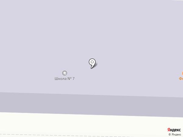 Средняя общеобразовательная школа №7 на карте Горно-Алтайска
