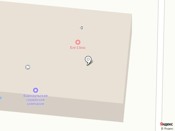 Первая линия на карте Горно-Алтайска