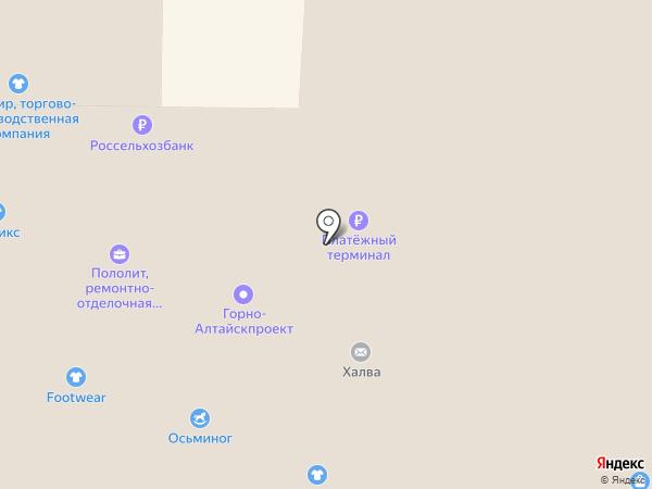 Ткацкий-2 на карте Горно-Алтайска